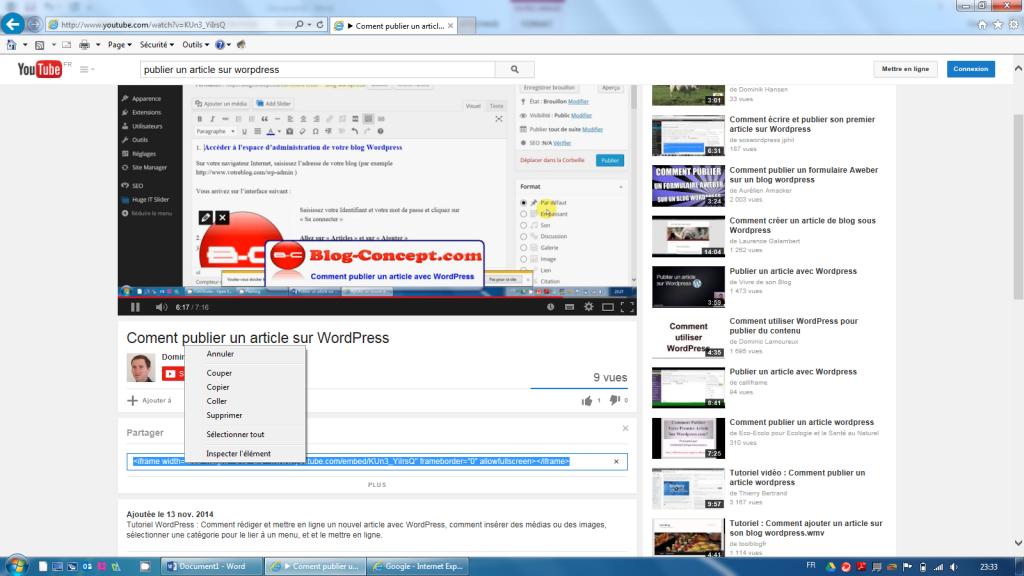Comment intégrer une vidéo Youtube sur son site WordPress